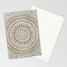 Elegant hand drawn tribal mandala design Stationery Cards