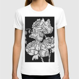 Black Fluttering Ink II T-shirt