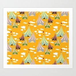 Fair Day Orange Art Print