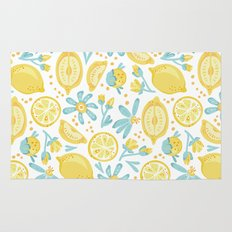 Lemon pattern White Rug