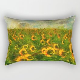 Classical style sunflowers Rectangular Pillow