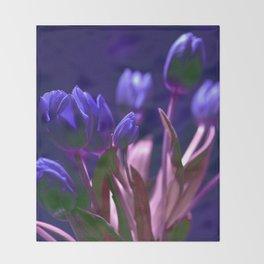 MAGIC BLUE TULIPS Throw Blanket