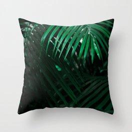 Lush green tree Throw Pillow