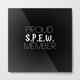 proud s.p.e.w. member // black Metal Print