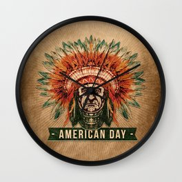 American Day Wall Clock