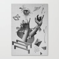 hands Canvas Prints featuring Hands by Oh Yeah Studio