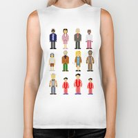 the royal tenenbaums Biker Tanks featuring The Royal Pixelbaums by Isabel