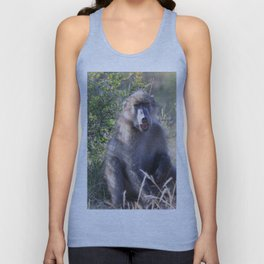 """""""Hey, whassup,"""" said the Baboon Unisex Tank Top"""