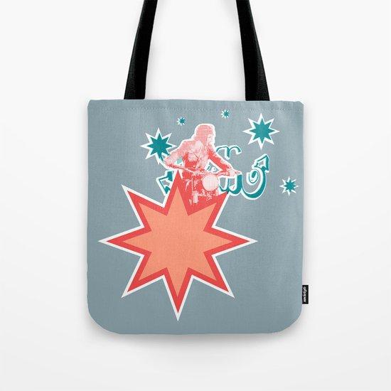 Biking through Stars Tote Bag