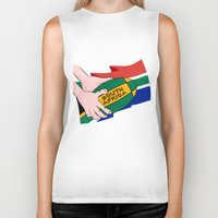 south africa Biker Tanks featuring South Africa Rugby by mailboxdisco