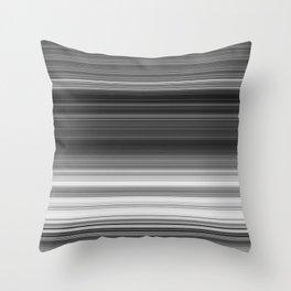 Black White Gray Thin Stripes Throw Pillow