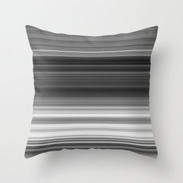Black White Gray Thin Stripes Throw Pillow