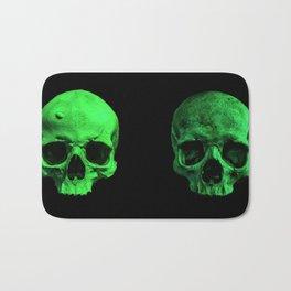 Skull quartet green Bath Mat