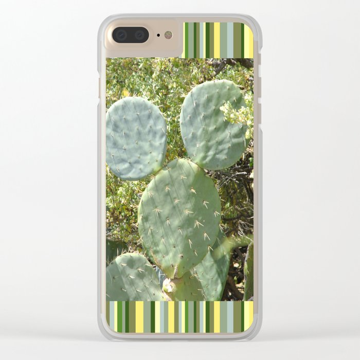 Mickey Cactus | Greek Nature Clear iPhone Case