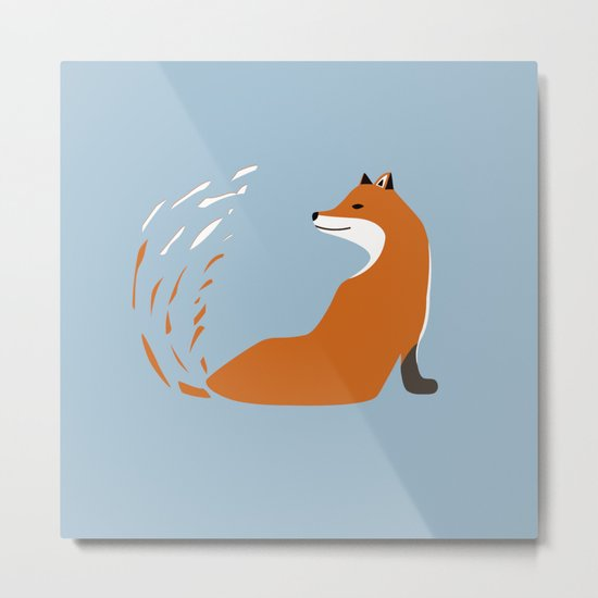 Fox Graphic Design Metal Print