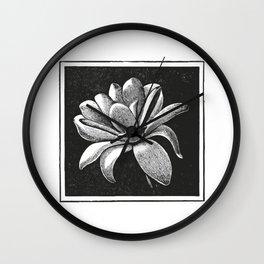 White flower Wall Clock