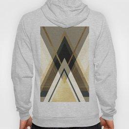 Rustic Black and Gold Geometric Hoody