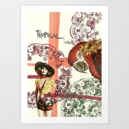 tropical week Art Print