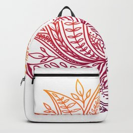 Botanical Lotus - Autumn Ombre Backpack