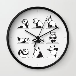 Panda Yoga Wall Clock