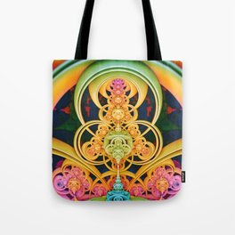 Time Shell III. Colorful Abstract Render Tote Bag
