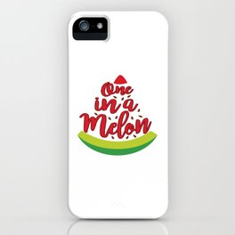 Funny Summer Sun Beach Holiday Fruity Melone Gift iPhone Case