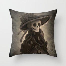 Mother Catrina Throw Pillow