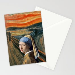 The Scream of Pearl Earring Girl Stationery Cards