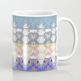 Sweet Lovely Intricate Boho Blues Lace Detail Coffee Mug