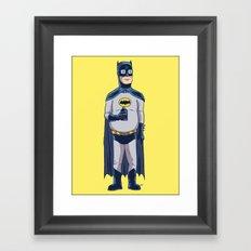 BatHank Framed Art Print