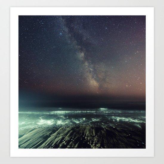 Galactic Beach Art Print