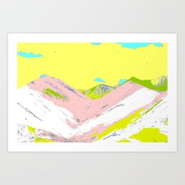Soft Color Mountain Art Print