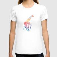 giraffe T-shirts featuring Watercolor Giraffe by Jacqueline Maldonado