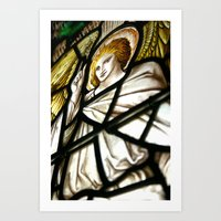 Stained with light Art Print