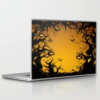 scary Laptop & iPad Skins featuring SCARY HALLOWEEN by Acus