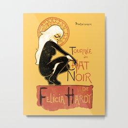 Le Chat Noir - Felicia Hardy/Black Cat Metal Print