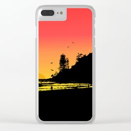 Burleigh beach Clear iPhone Case
