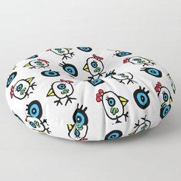 Pajaros by Rolando Chang Barrero Floor Pillow