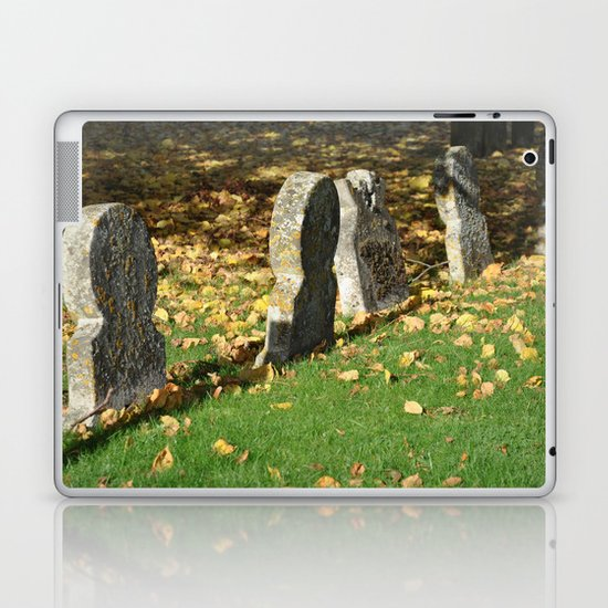 Autumnal Gravestones Laptop & iPad Skin