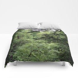 Transparent Forest (crop) Comforters