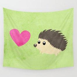 Hedgehog Love Wall Tapestry