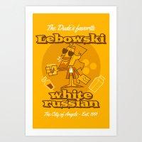 the big lebowski Art Prints featuring The Big Lebowski by Giovanni Costa