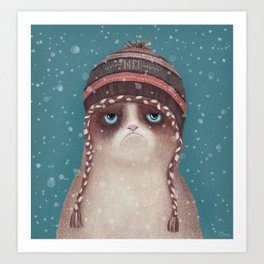 Under snow Art Print