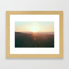 Northern Minnesota Sunsets Framed Art Print