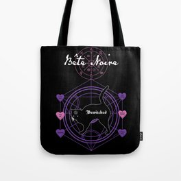 Bete Noire - Bewitched black cat art Tote Bag