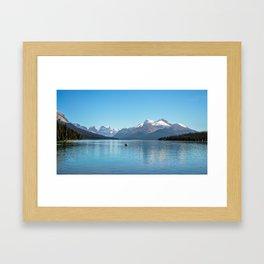 Serenity at Lake Maligne Framed Art Print