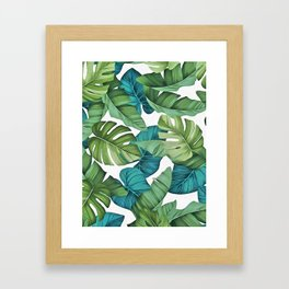Tropical leaves II Framed Art Print