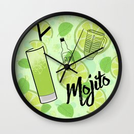 Mojito Cocktail Wall Clock