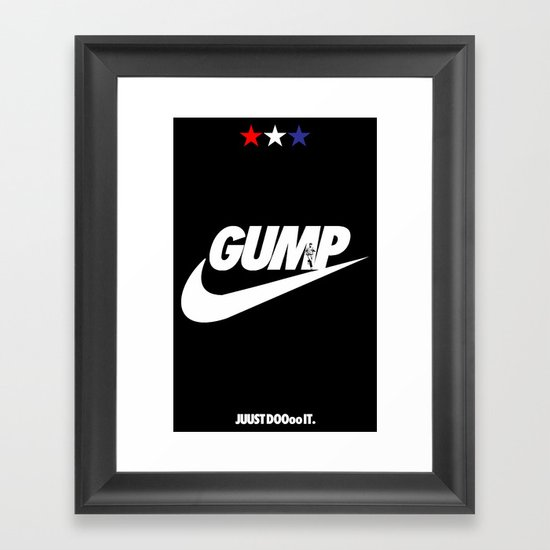 Gump- JustDoIt Framed Art Print