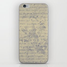 Aged Floral Letter iPhone Skin